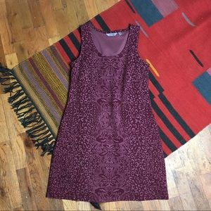 Athleta Printed Shayla Cherrywood Dress Sz Small